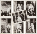 Movie/TV Memorabilia:Autographs and Signed Items, A Marilyn Monroe Group of Rare Black and White Snapshots, 1955....