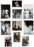 Movie/TV Memorabilia:Autographs and Signed Items, A Marilyn Monroe Group of Rare Black and White Snapshots,1955-1957....