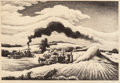 Fine Art - Work on Paper:Print, Thomas Hart Benton (American, 1889-1975). Threshing, 1941.Lithograph on paper. 9-1/4 x 13-3/4 inches (23.5 x 34.9 cm) (...