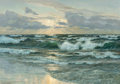 Western:Modern, Lionel Walden (American, 1861-1933). Sunrise on the Sea. Oilon canvas. 27-3/4 x 39-3/4 inches (70.5 x 101.0 cm). Signed...