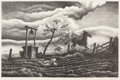 Prints, Thomas Hart Benton (American, 1889-1975). Frisky Day, 1939. Lithograph on paper. 7-3/4 x 12 inches (19.7 x 30.5 cm) (ima...