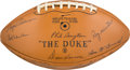 Football Collectibles:Balls, 1968 Green Bay Packers Team Signed Football - Mint!...