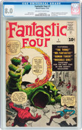 Silver Age (1956-1969):Superhero, Fantastic Four #1 (Marvel, 1961) CGC VF 8.0 Off-white to whitepages....