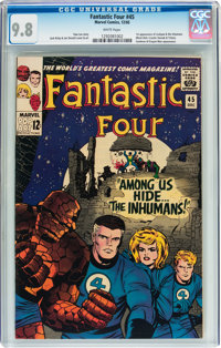 Fantastic Four #45 (Marvel, 1965) CGC NM/MT 9.8 White pages