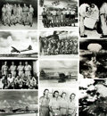 Books:Prints & Leaves, [Atomic Bomb: Hiroshima and Nagasaki]. Archive of NineteenPhotographs and Press Prints Relating to The Atomic Bomb Drops onH...