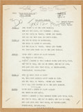 Music Memorabilia:Documents, Elvis Presley - A Group of Elvis' Lyric Cards from Easy Come, Easy Go (Paramount, 1967)....