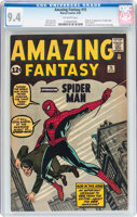 Featured item image of Amazing Fantasy #15 (Marvel, 1962) CGC NM 9.4 Off-white pages....