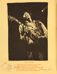 Jimi Hendrix and Others Signed Program from Woodstock, 1969