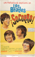 Music Memorabilia:Posters, Beatles - An Argentinean Poster from Help! (aka¡Socorro!)...