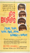 Music Memorabilia:Posters, Beatles - An Argentinean Poster from A Hard Day's Night (aka¡Yeah, Yeah, Yeah, Paul, John, Geor...