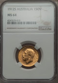 Australia, Australia: George V gold Sovereign 1912-S MS64 NGC,...