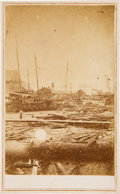 Photography:CDVs, [Galveston]. Carte de Visite of 1867 Flood Damage at the Galveston Port....