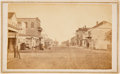 Photography:CDVs, [Galveston]. Early Carte de Visite of Post Office Street....