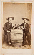 Photography:CDVs, Carte de Visite of Two Unidentified Gamblers....