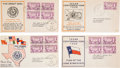 Miscellaneous, [Amon Carter]. Four First Day Covers Commemorating the TexasCentennial... (Total: 4 Items)