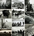 Books:Prints & Leaves, [World War II: Normandy Invasion]. Archive of Approximately 135Photographs and Press Prints Relating to the Normandy Invasion...