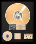 Music Memorabilia:Awards, Rolling Stones Steel Wheels RIAA Gold Record Award (RollingStones OC 45333, 1989)....