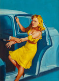 Pulp, Pulp-like, Digests, and Paperback Art, Albert Fisher (American, 20th century). I Killed the Woman ILoved, Front Page Detective pulp magazine cover, January 19...(Total: 2 Items)