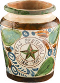 Antiques:Decorative Americana, Texas Centennial Ceramic Urn. ...