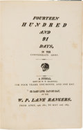 Books:Biography & Memoir, W[illiam]. W[illiston]. Heartsill: Fourteen Hundred and 91 Days, in the Confederate Army. ...
