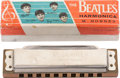 Music Memorabilia:Instruments , Beatles Vintage Hohner Harmonica in Original Box....