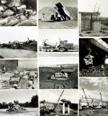 Books:Prints & Leaves, [Construction]. Archive of Eighteen Photographs and Press PrintsRelating to Construction....