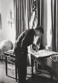Photographs:Gelatin Silver, Alfred Eisenstaedt (American, 1898-1995). President John F.Kennedy in the Oval Office, 1961. Gelatin silver, 1991. 17-1...
