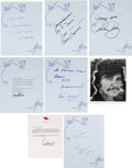 Movie/TV Memorabilia:Autographs and Signed Items, A Large Collection of Celebrity Autographs, Circa 1995....