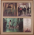 Music Memorabilia:Autographs and Signed Items, Allman Brothers Signed Debut Album Cover Framed (Atco/Capricorn,1969)....