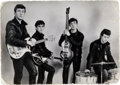 Music Memorabilia:Autographs and Signed Items, Beatles - John Lennon and Paul McCartney Signatures on the Verso of a Promo Photo (Liverpool, 1962). ...