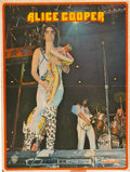 Music Memorabilia:Posters, Alice Cooper - Neal Smith Owned Mounted Poster (circa 1973)....