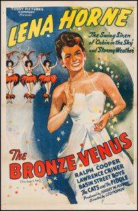 """The Bronze Venus (Toddy Pictures, R-1943). One Sheet (27"""" X 41""""). Black Films. Original Title: The Duke is Top..."""