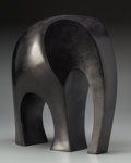 Ferdinand Parpan (French, 1902-2004) Eléphant, executed 2000 Bronze with dark brown patina 13-1/2