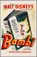"Movie Posters:Animation, Bambi (Buena Vista Home Video, R-1980s). Video One Sheet (26"" X40""). Animation.. ..."