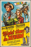 "Movie Posters:Western, Night Time in Nevada (Republic, 1948). One Sheet (27"" X 41""). Western.. ..."