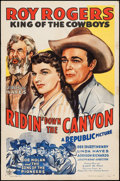 """Movie Posters:Western, Ridin' Down the Canyon (Republic, 1942). One Sheet (27"""" X 41""""). Western.. ..."""