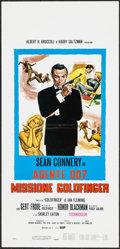 "Movie Posters:James Bond, Goldfinger (UIP, R-1980s). Italian Locandina (13.25"" X 27.5""). James Bond.. ..."
