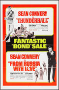 """Movie Posters:James Bond, Thunderball/From Russia with Love Combo (United Artists, R-1968). One Sheet (27"""" X 41"""") & Pressbook (). James Bond.. ... (Total: 2 Items)"""