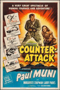 "Movie Posters:War, Counter-Attack (Columbia, 1945). One Sheet (27"" X 41""). War.. ..."