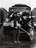 "Music Memorabilia:Photos, Beatles - Astrid Kirchherr Signed Photograph Of John Lennon, StuartSutcliffe And George Harrison, ""Truck"" (1960)...."