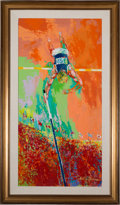 """Miscellaneous Collectibles:General, 1979 """"Olympic Pole Vaulter"""" Original Painting by LeRoy Neiman...."""