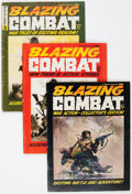 Magazines:Miscellaneous, Blazing Combat #1-4 Complete Series Group (Warren, 1965-66)Condition: Average VG+.... (Total: 4 Comic Books)