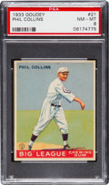Baseball Cards:Singles (1930-1939), 1933 Goudey Phil Collins #21 PSA NM-MT 8 - None Higher....