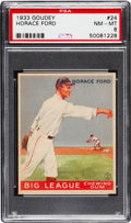 Baseball Cards:Singles (1930-1939), 1933 Goudey Horace Ford #24 PSA NM-MT 8....