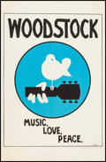 "Movie Posters:Rock and Roll, Woodstock (Warner Brothers, 1970). Poster (23"" X 35""). Rock andRoll.. ..."