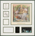 Music Memorabilia:Autographs and Signed Items, Genesis Early Group (1971-1975) Signatures in Framed Display. ...