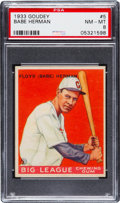 Baseball Cards:Singles (1930-1939), 1933 Goudey Babe Herman #5 PSA NM-MT 8 - None Higher....