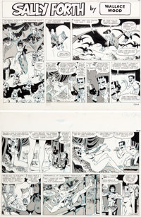 Wally Wood Sally Forth Comic Strip #S61 Original Art (Wood and Richter, 1972)