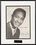 Music Memorabilia:Autographs and Signed Items, Sam Cooke Signed Large Photo from 1958 Tour Program....