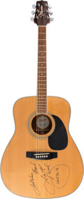 Music Memorabilia:Autographs and Signed Items, Garth Brooks Signed Takamine G332 Acoustic Guitar with Provenancefrom Charity Auction (1996). ...